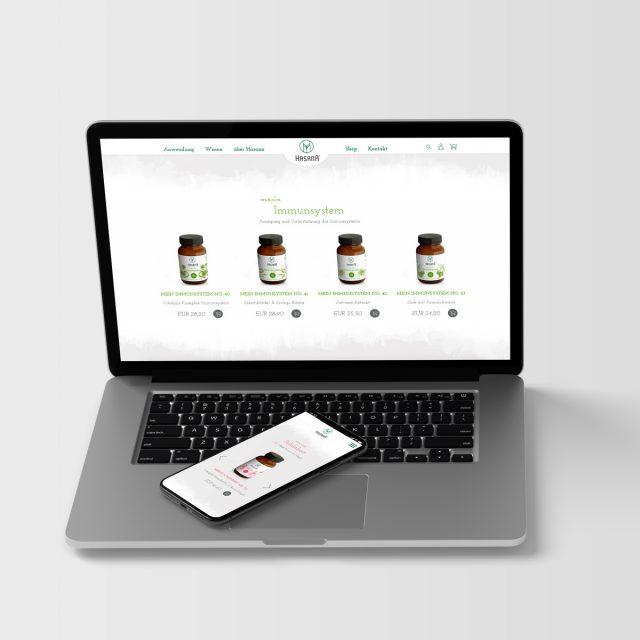 Hasana Website Laptop
