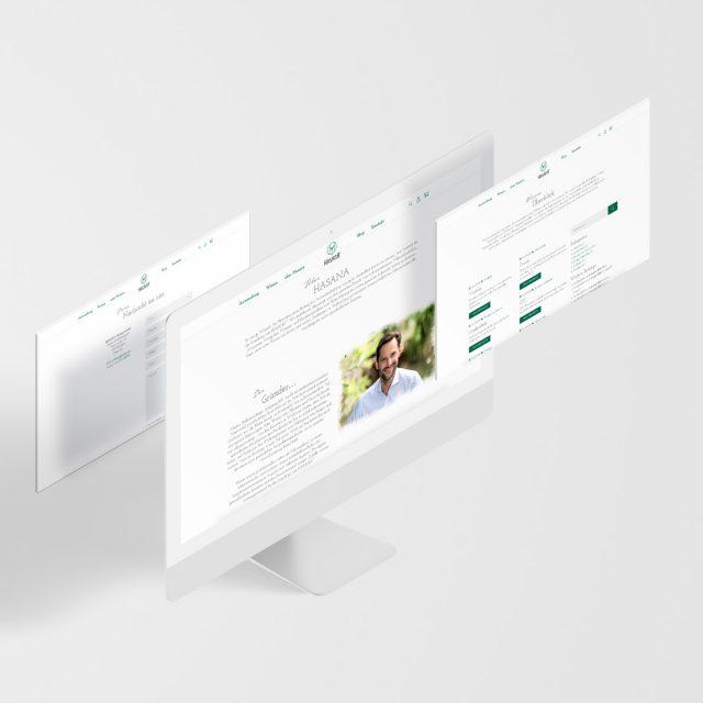 Hasana Website Schichten