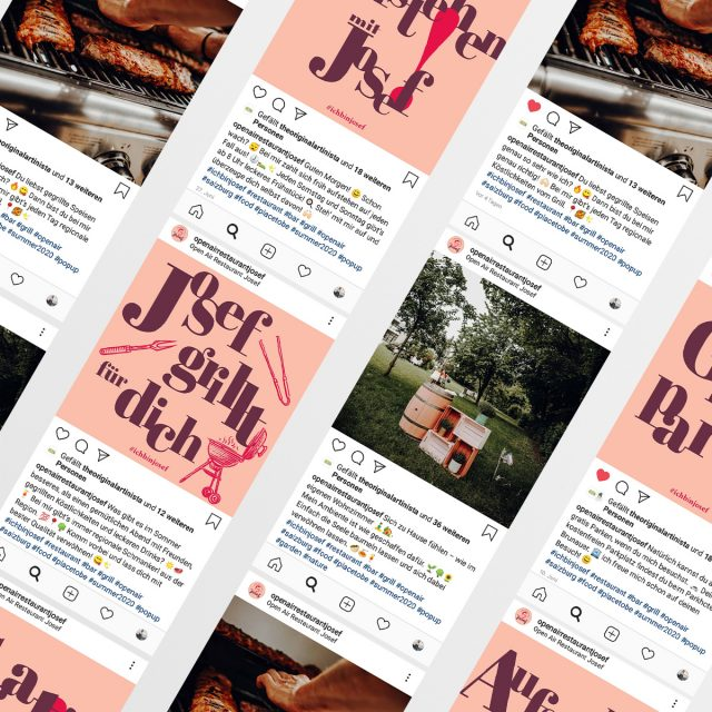 Josef Instagram-Postings Übersicht
