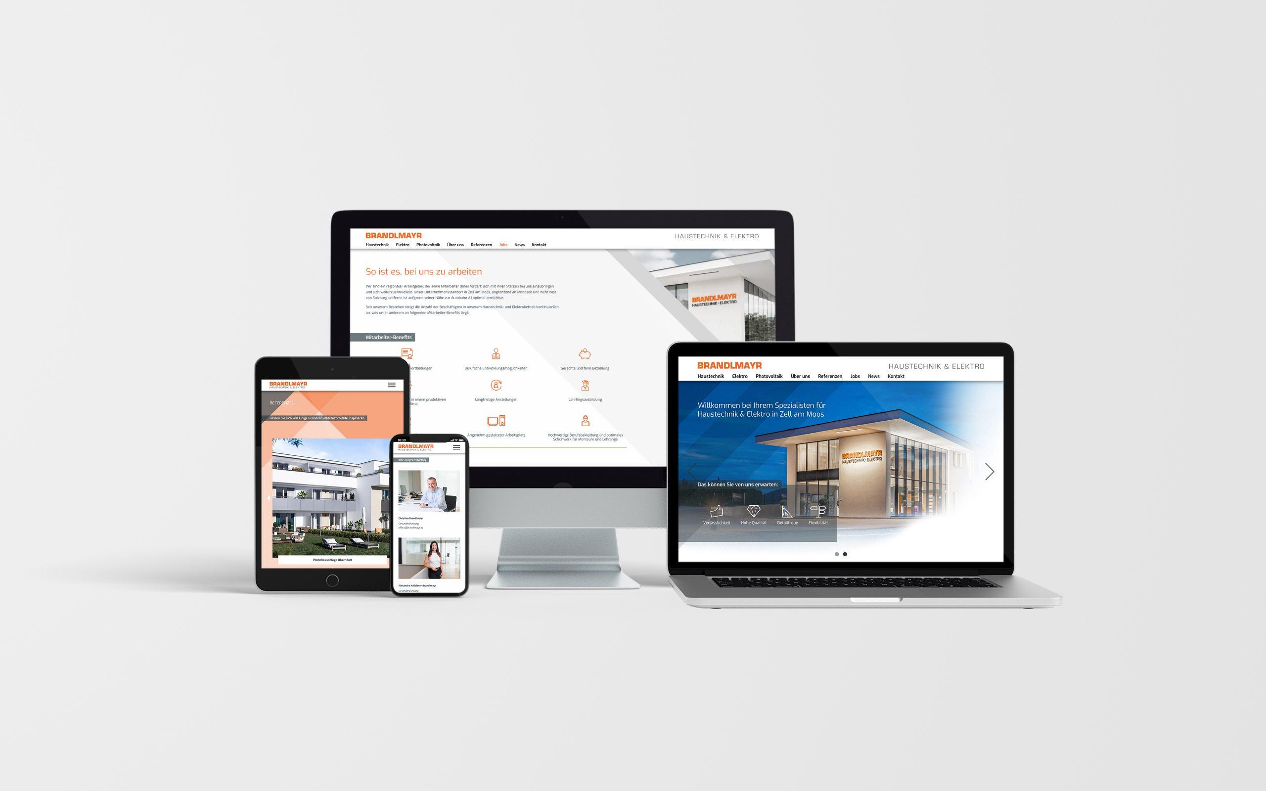 Brandlmayr – Haustechnik und Elektro | Website Ansicht Divers