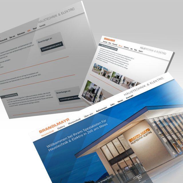 Brandlmayr – Haustechnik und Elektro | Website Ansicht Tabs