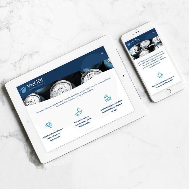 veder Website Mobile