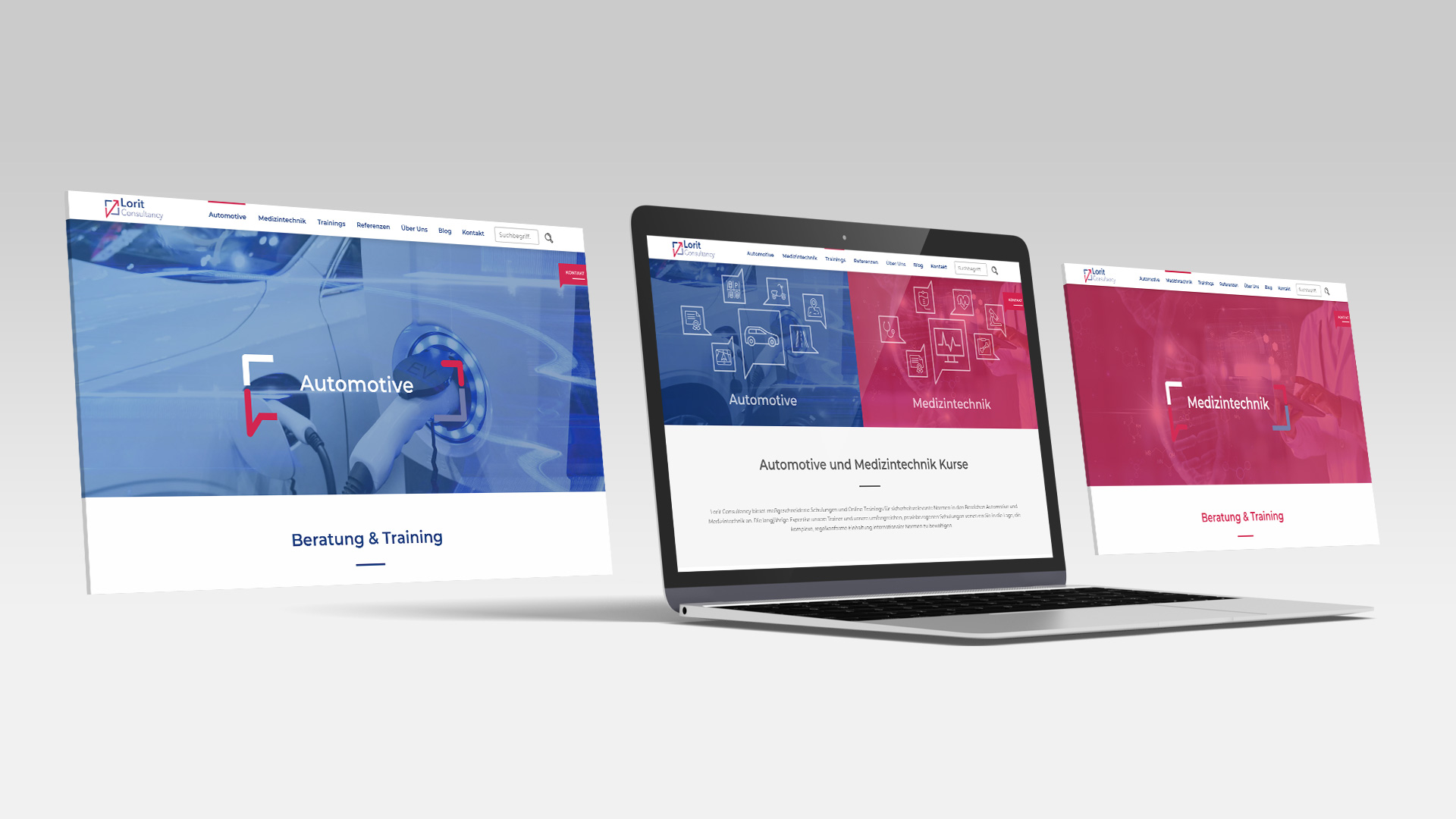 Lorit Website Unterseiten
